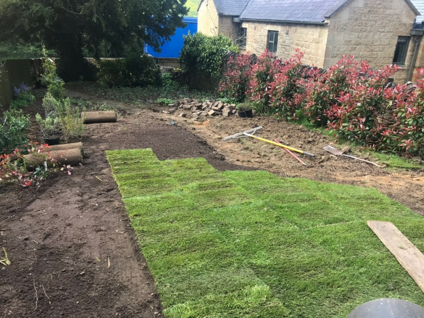 Turf Laying - Bourton on the Hill -