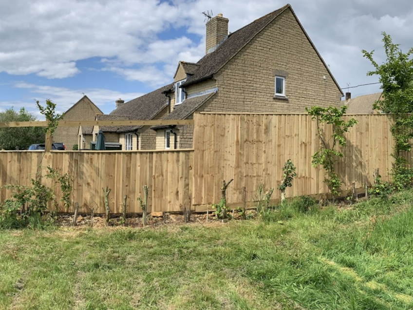 Wooden Slatted Fence - Great Rissington -