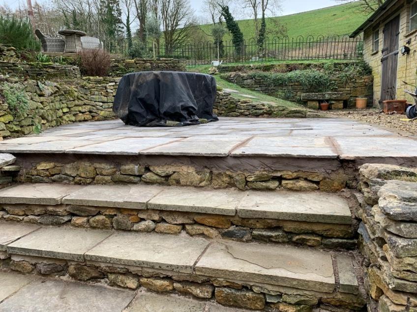 New Patio Laying - Snowshill -