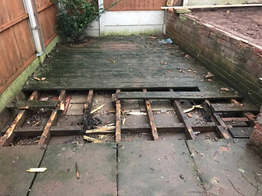 New Patio - Kidderminster - CLEARING THE WAY...